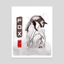 fox - Canvas by Maxim G