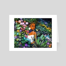Garden Hideaway - Art Card by Geneva Bowers