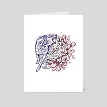 Wolf peony  - Art Card by Pablo Puentes