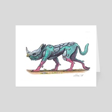 Bragulion Hell Hound - Art Card by Ugly Ink