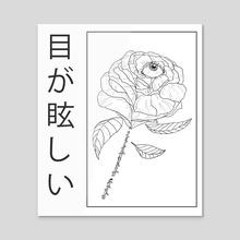Creeping rose - Acrylic by shade Lirio
