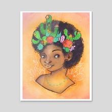 Cactus Princess - Acrylic by Alex Doty