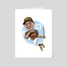 Manny Machado Caricature - Art Card by Cisco Rivera