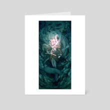 Mermaid - Art Card by Caitlin Ono