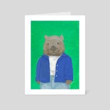 Wombat - Art Card by Loretta Ryan-Krawczyk