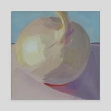 Pinky_White_Onion - Canvas by Yuri Tayshete