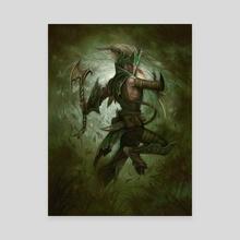 Elf Warrior - Canvas by William  O'Connor