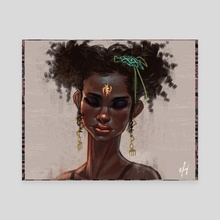 Pretty Lady (Nothing New Under The Sun) - Canvas by Afenyi Arhin