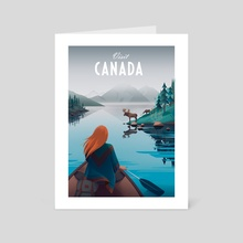 Visit Canada - Art Card by Anna Kuptsova