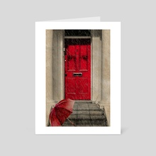 London Door - Art Card by Valérie KARAKATSANIS