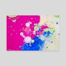 Bubbles-Art Apple - Canvas by Sotir Nikolov