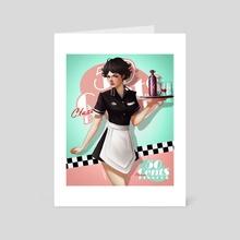 50cents waitress  - Art Card by Rafa ArSen