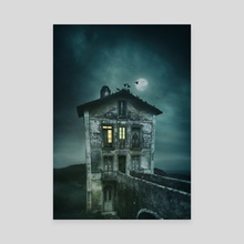 Pigeon Keeper's House - Canvas by Carlos Caetano
