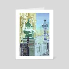 Paris , hotel de ville - Art Card by Jean-Sylvain Lapouge