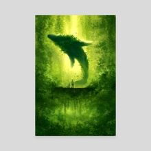 Plant Whale - Canvas by Nadia Kim