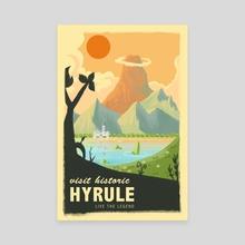 Vintage Legend of Zelda Travel Poster - Canvas by Martin Montgomery