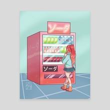Vending Machine - Canvas by Margo
