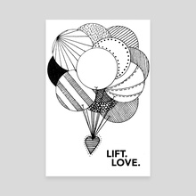 LIFT LOVE - Canvas by Christopher Miller
