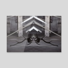 Simetry - Acrylic by Oscar Manuel Calleja Hermosa