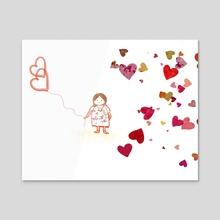 Perfect love  - Acrylic by Navita Williams
