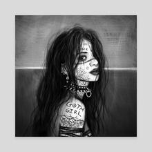 Goth Girl - Canvas by Justin Gedak