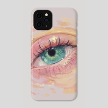 Emerald Eye - Phone Case by Silvana Bossa