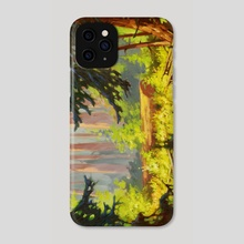 Redwood (US Highway 101) by V.P. Shkurkin - Phone Case by Katya Shkurkin