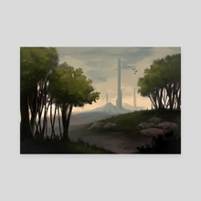 Towers - Canvas by Amy Gerardy