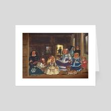 Las Meninas - Diego Velazquez - Art Card by Ramon Gonzalez Teja