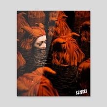 SWIMMING - Acrylic by CYBR-SENSEI