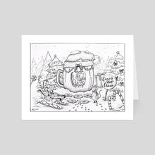 Coco's Hot Choco (Pen Sketch) - Art Card by lunaagem