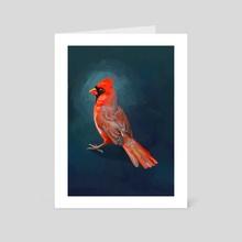 Cardinal - Art Card by Indré Bankauskaité
