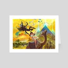 Pyramids - Art Card by Shayu Dan