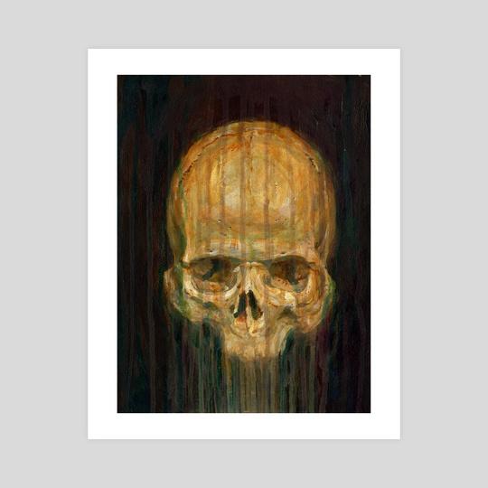 Original Skull Painting - Skull Study No 1 by Guy Gondron