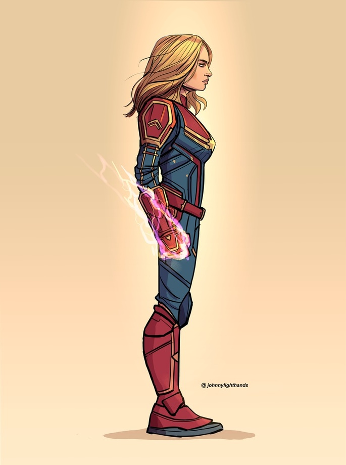 Captain Marvel An Art Print By Johnny Lighthands Inprnt