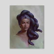 Medusa Portrait - Canvas by Zara Alfonso