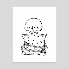Sleepy Mood - Canvas by Darina Pavlova