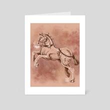 Renaissance horse - Art Card by Pinku Chaii