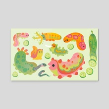 Sea cucumber - Canvas by pikaole