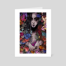Flower Girl - Art Card by Courtney Facca