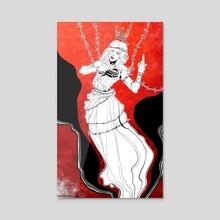 Mad Empress - Acrylic by Waldos Croissant