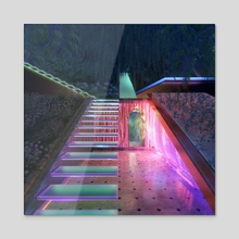 Downstairs - Acrylic by Blake Kathryn