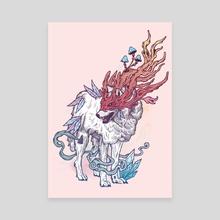 Spirit Animal - Wolf - Canvas by Mat Miller