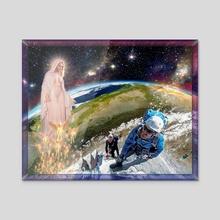 Temptation of Saint Swarun - Acrylic by Rubins Leonard