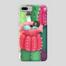 Cactus Thumbelina  - Phone Case by Suzi Spooner