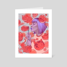 Bubbles - Art Card by Briana Hertzog