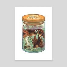 Riverine Gillfrogs - Canvas by Emma Lazauski