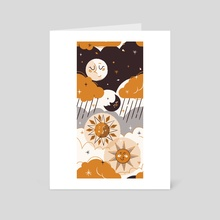 The Sun & The Moon - Art Card by Ginger ish