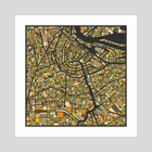 Amsterdam Map 2 - Art Print by Jazzberry Blue