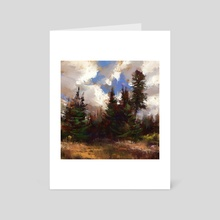 A Tree And It's Friends  - Art Card by Allison Gloe